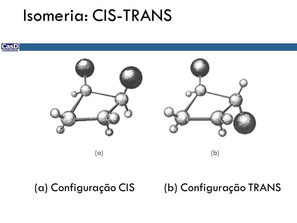 Isomeria: CIS-TRANS (a) Configuração CIS (b) Configuração TRANS (a)