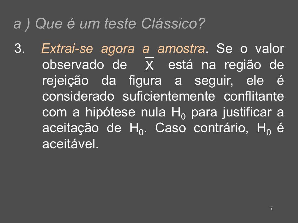a ) Que é um teste Clássico