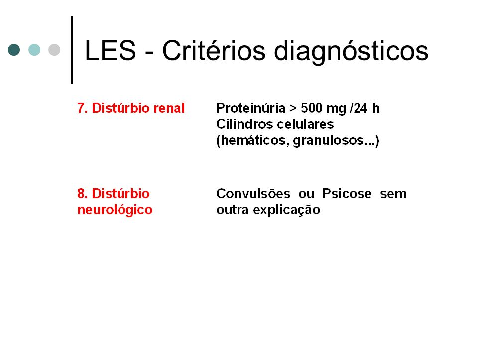 LES - Critérios diagnósticos