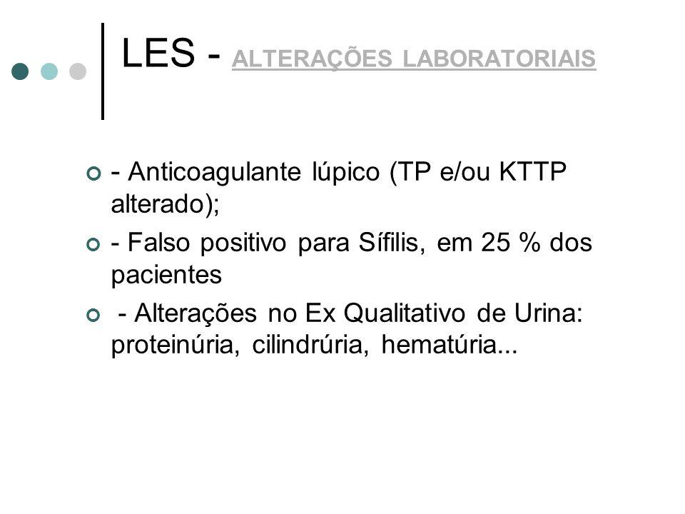 LES - ALTERAÇÕES LABORATORIAIS