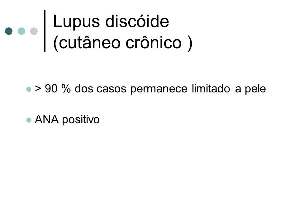 Lupus discóide (cutâneo crônico )