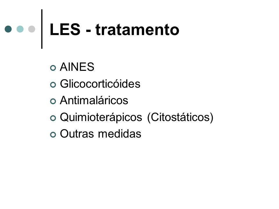 LES - tratamento AINES Glicocorticóides Antimaláricos