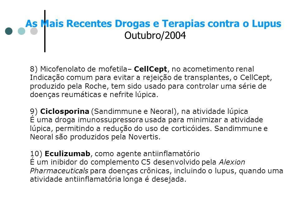 As Mais Recentes Drogas e Terapias contra o Lupus