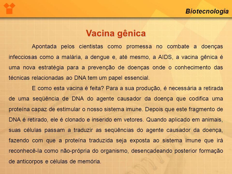 Vacina gênica Biotecnologia