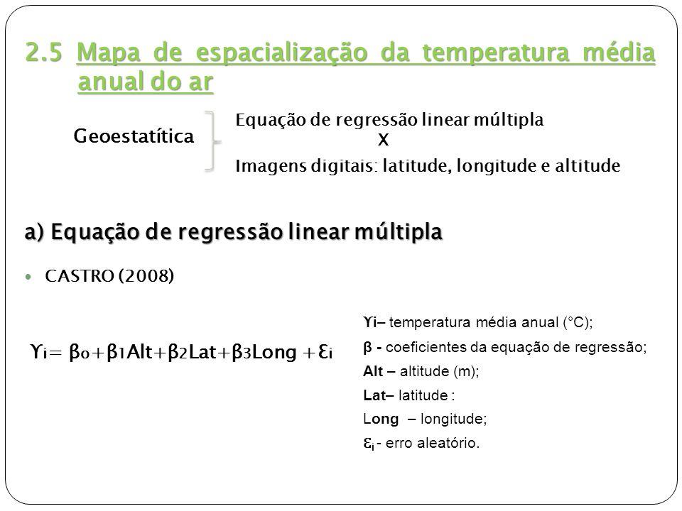 2.5 Mapa de espacialização da temperatura média anual do ar