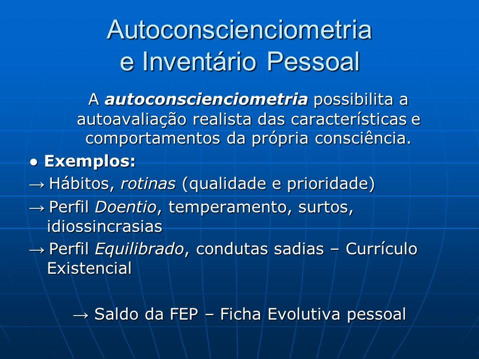 Autoconscienciometria e Inventário Pessoal