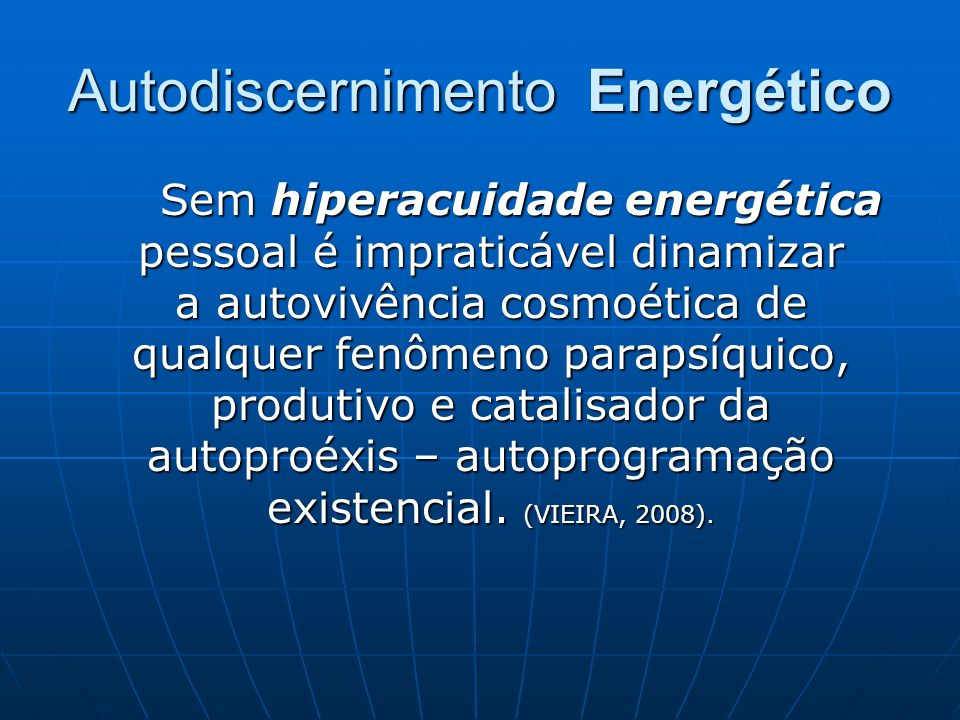 Autodiscernimento Energético