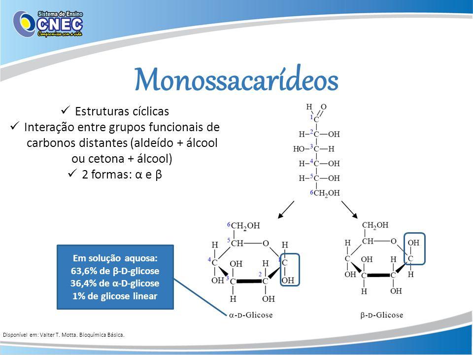 Monossacarídeos Estruturas cíclicas