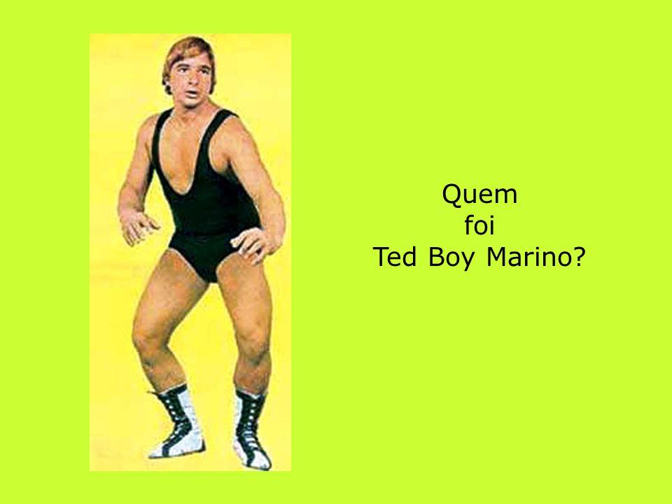 Quem foi Ted Boy Marino