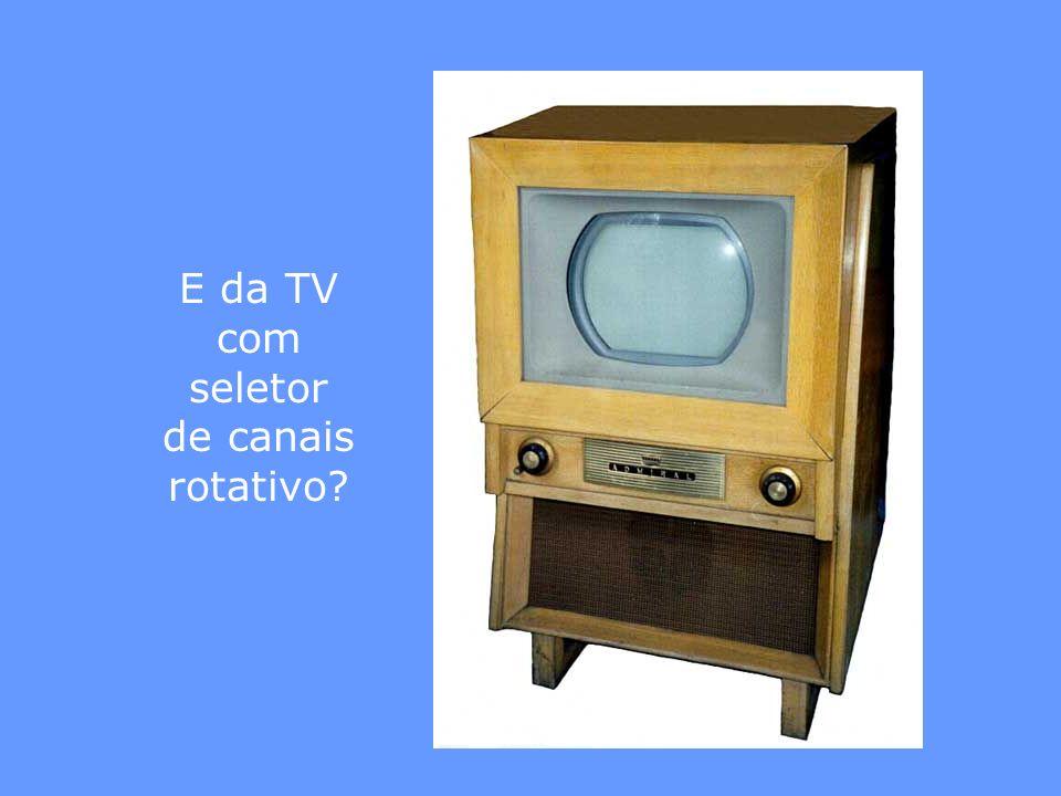 E da TV com seletor de canais rotativo