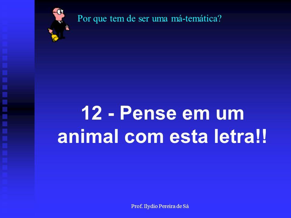 12 - Pense em um animal com esta letra!!