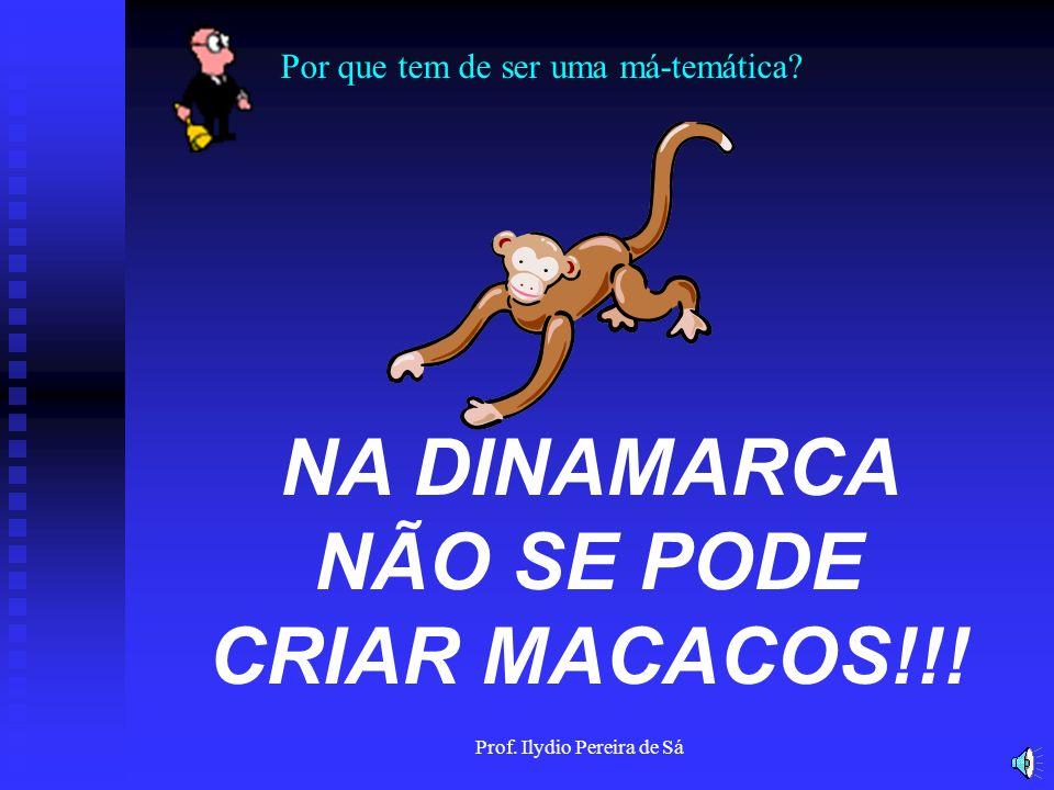 NA DINAMARCA NÃO SE PODE CRIAR MACACOS!!!