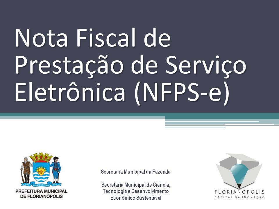 Nota Fiscal de Prestação de Serviço Eletrônica (NFPS-e)