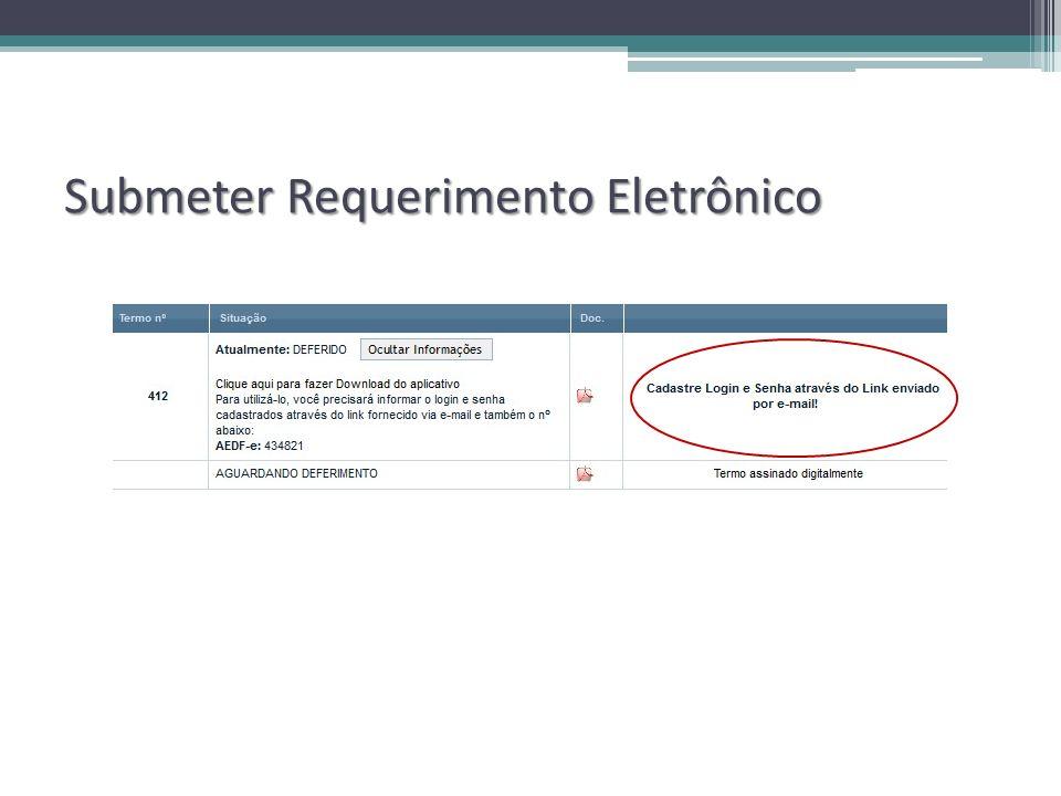 Submeter Requerimento Eletrônico