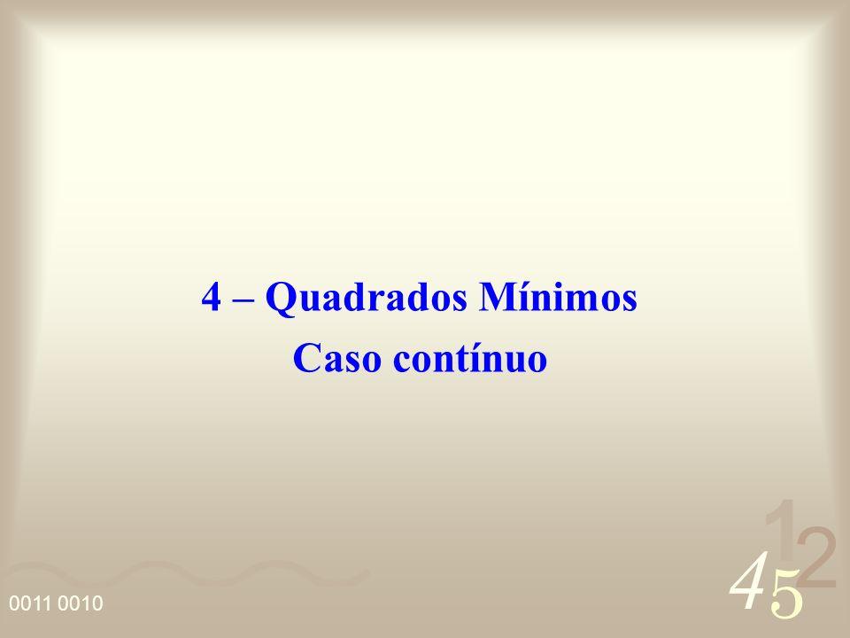 4 – Quadrados Mínimos Caso contínuo
