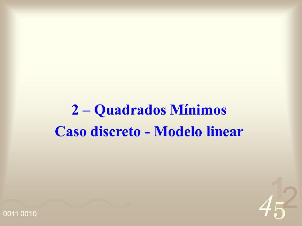 Caso discreto - Modelo linear