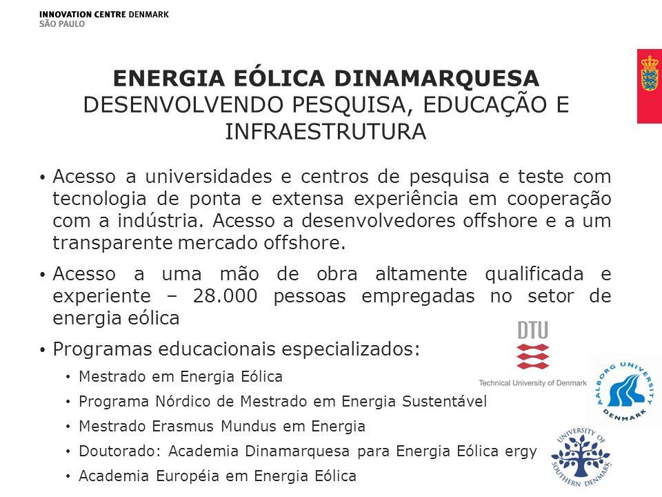Energia eólica dinamarquesa desenvolvendo pesquisa, educação e infraestrutura