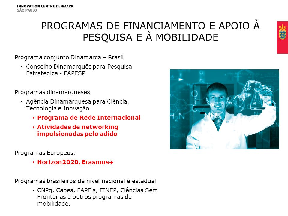 Programas de financiamento e apoio À pesquisa e à mobilidade