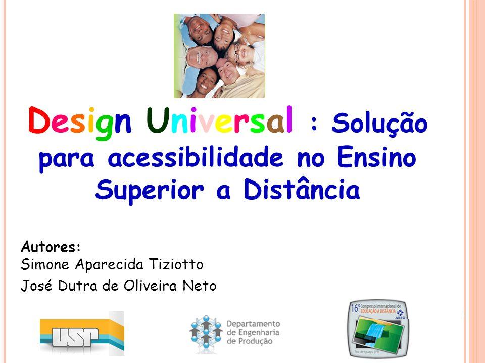 Autores: Simone Aparecida Tiziotto José Dutra de Oliveira Neto