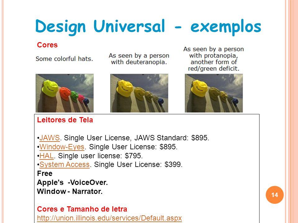 Design Universal - exemplos