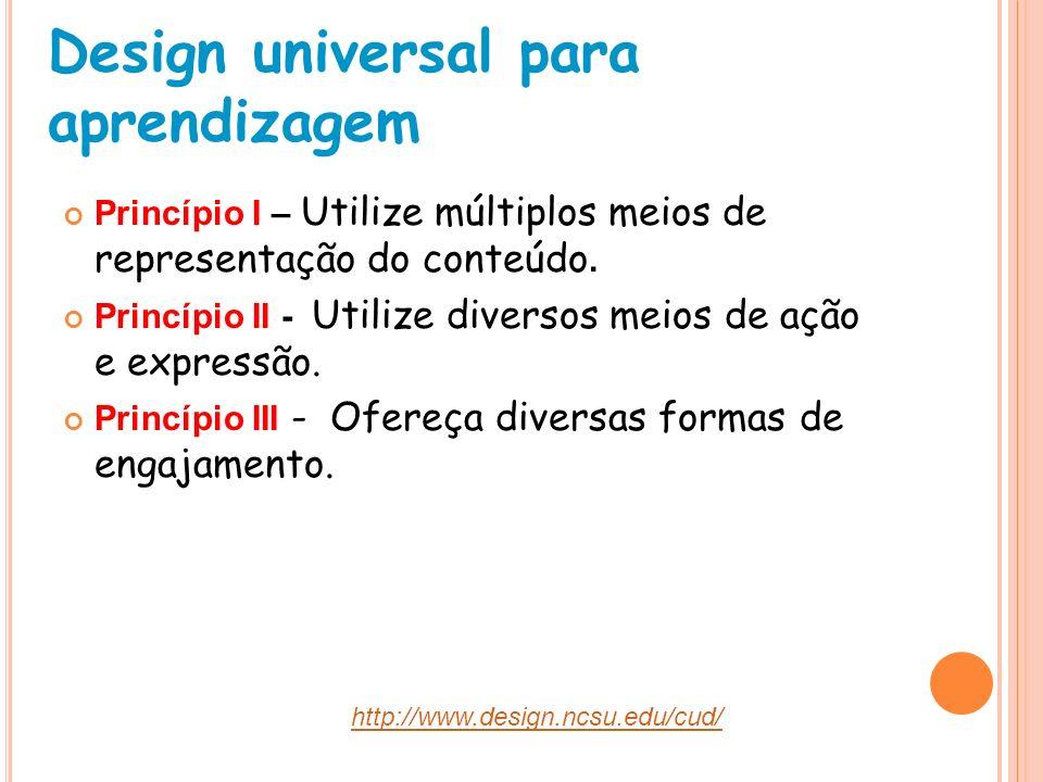 Design universal para aprendizagem