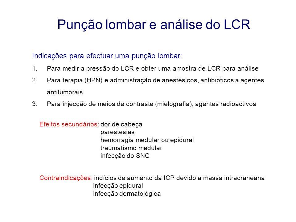 Punção lombar e análise do LCR