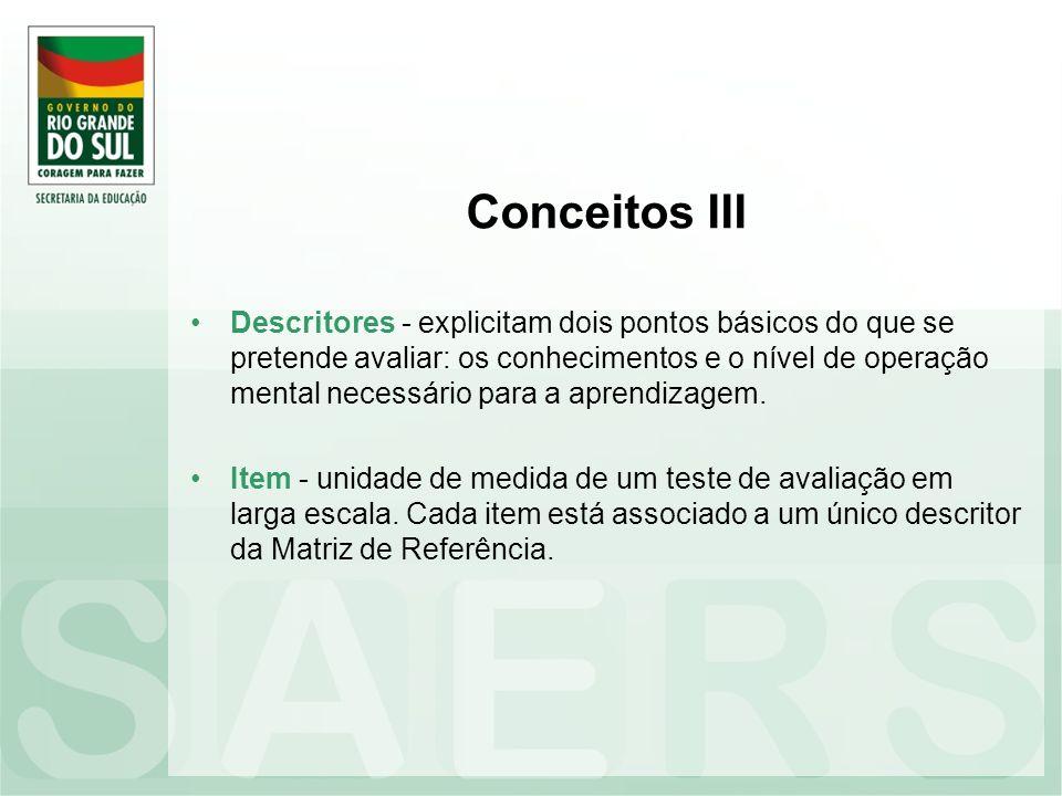 Conceitos III