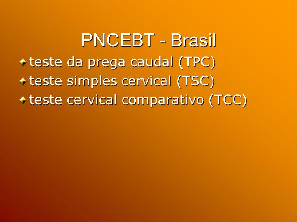 PNCEBT - Brasil teste da prega caudal (TPC)