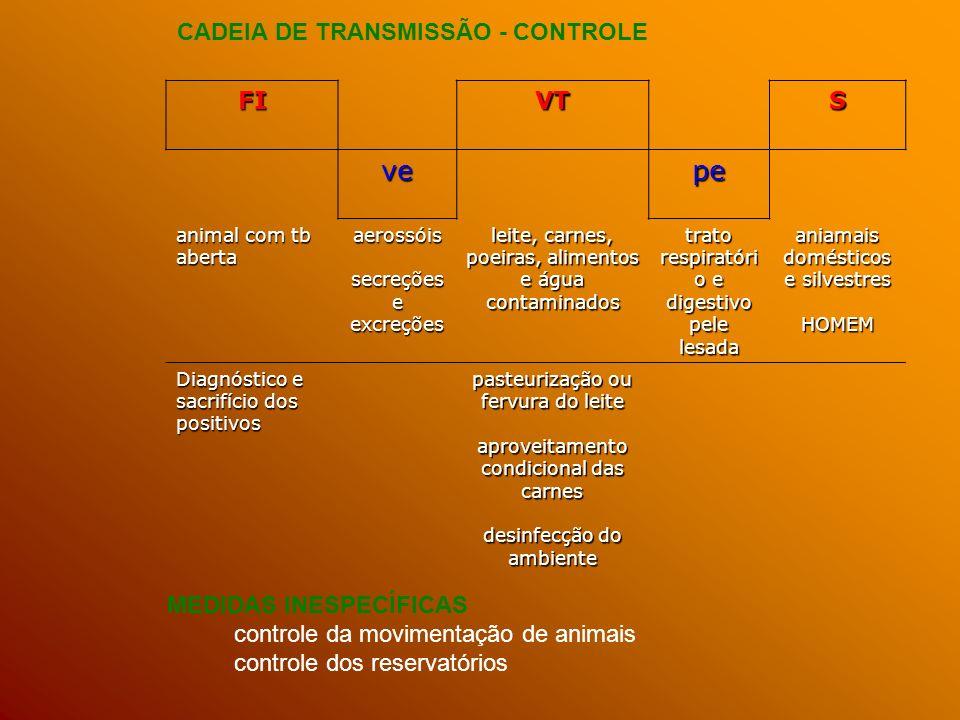 ve pe CADEIA DE TRANSMISSÃO - CONTROLE FI VT S MEDIDAS INESPECÍFICAS