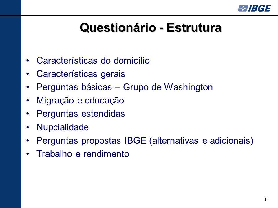 Questionário - Estrutura