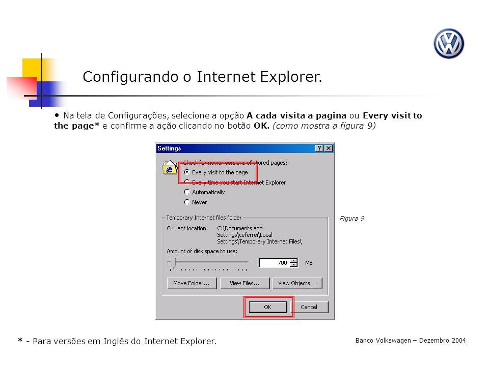 Configurando o Internet Explorer.