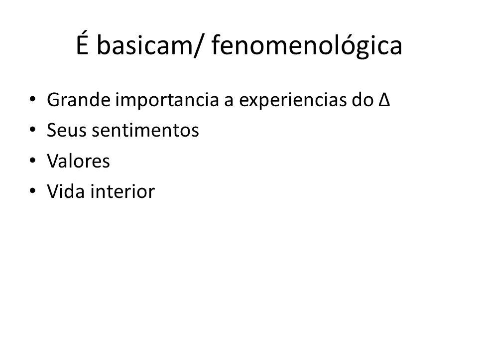 É basicam/ fenomenológica
