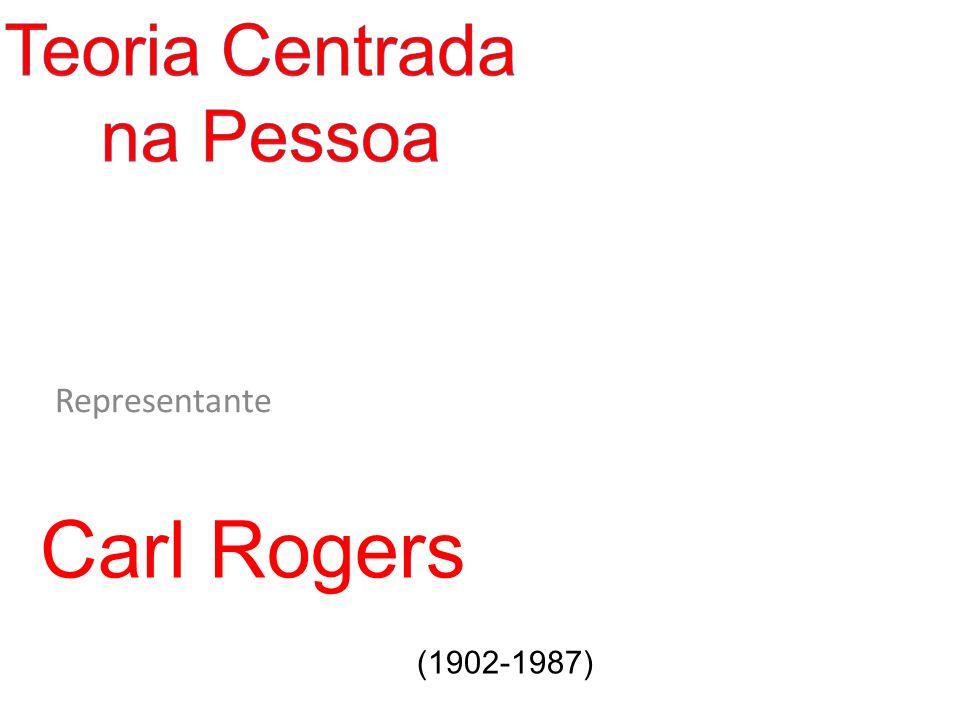 Teoria Centrada na Pessoa Representante Carl Rogers (1902-1987)