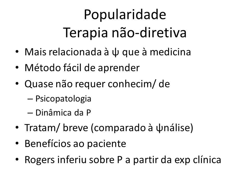 Popularidade Terapia não-diretiva