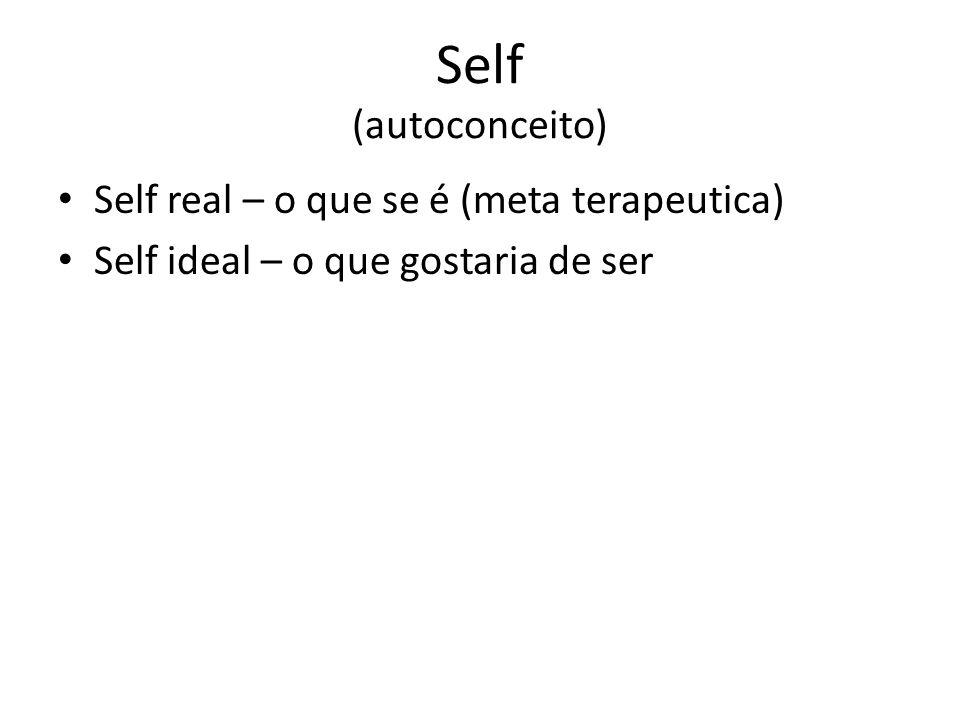 Self (autoconceito) Self real – o que se é (meta terapeutica)