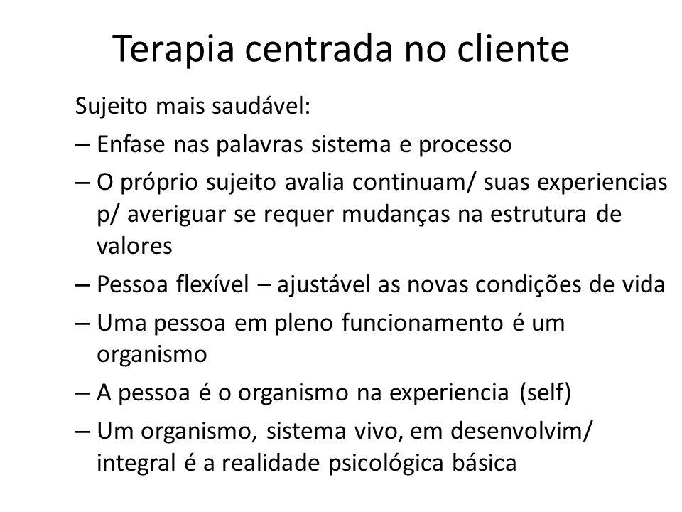 Terapia centrada no cliente