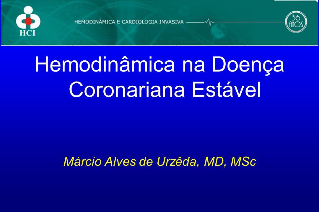 Hemodinâmica na Doença Coronariana Estável