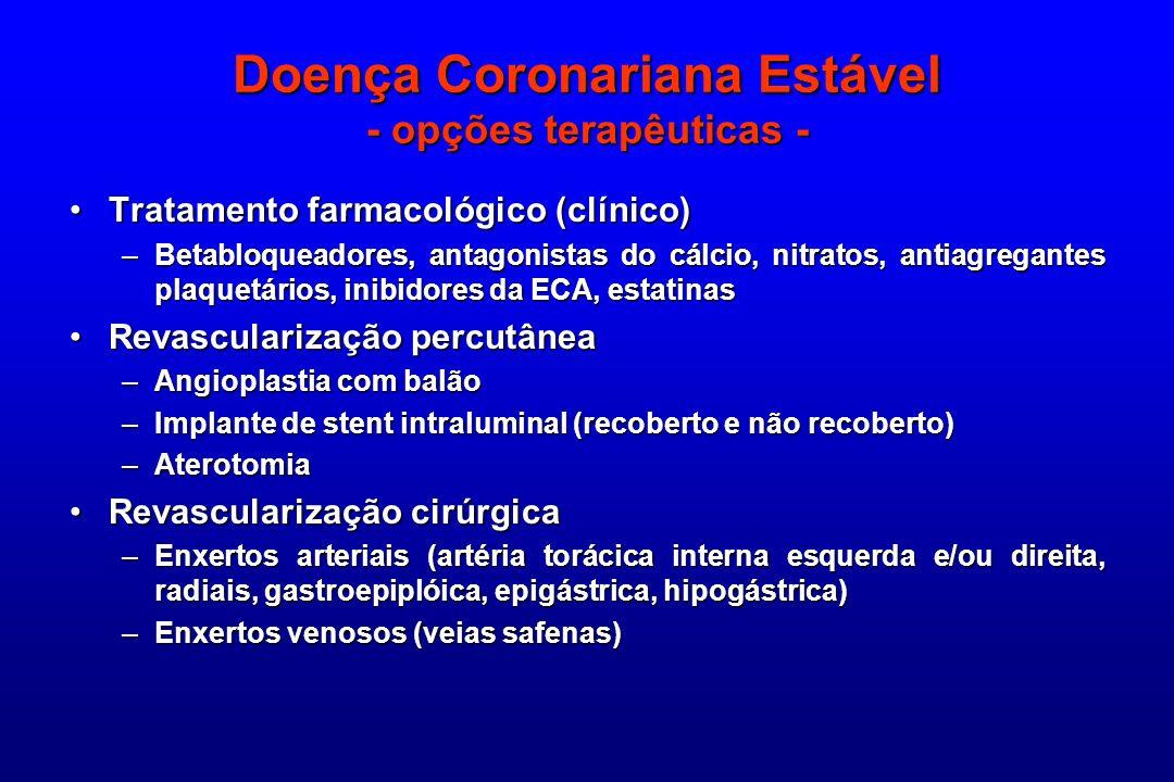 Doença Coronariana Estável - opções terapêuticas -