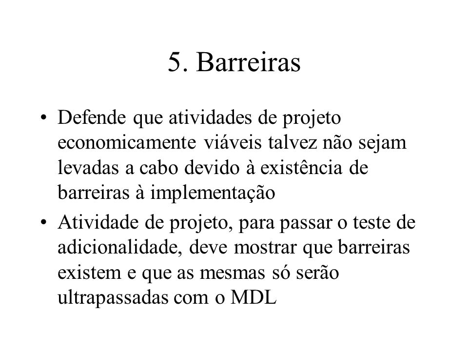 5. Barreiras