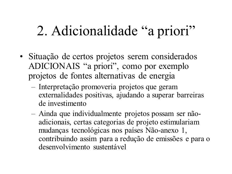 2. Adicionalidade a priori