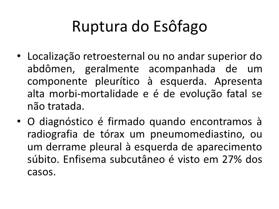 Ruptura do Esôfago