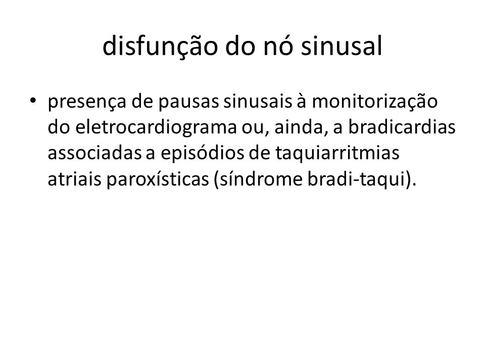disfunção do nó sinusal