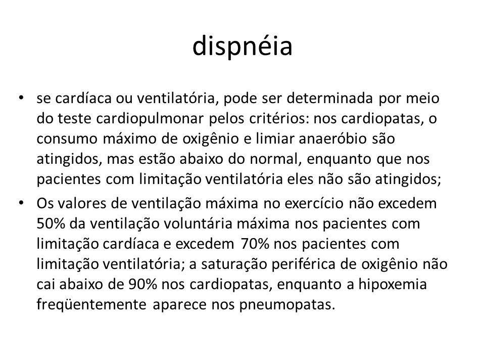 dispnéia