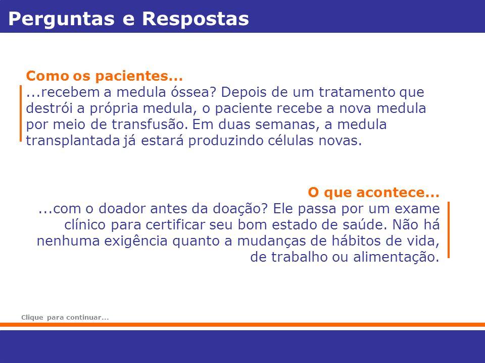 Perguntas e Respostas Como os pacientes...