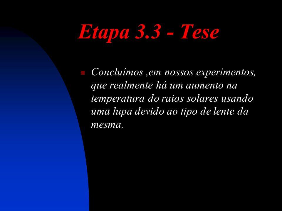 Etapa 3.3 - Tese