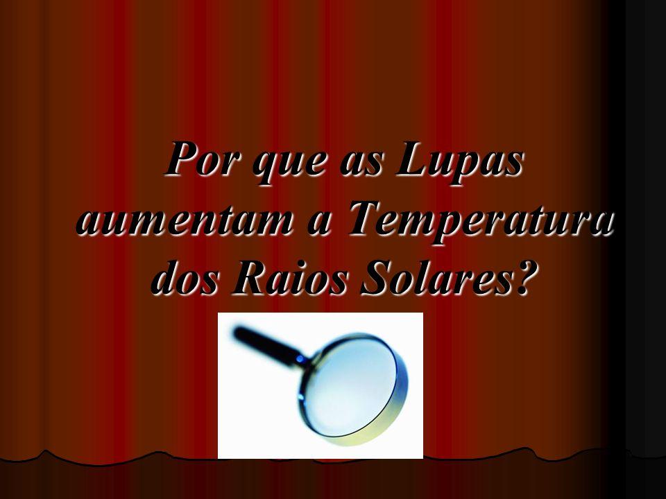 Por que as Lupas aumentam a Temperatura dos Raios Solares