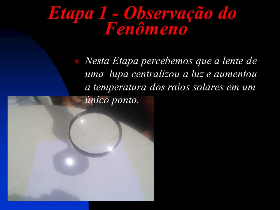 Etapa 1 - Observação do Fenômeno
