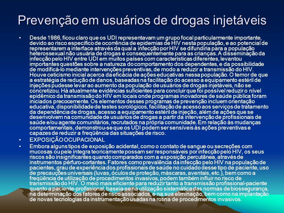 Prevenção em usuários de drogas injetáveis