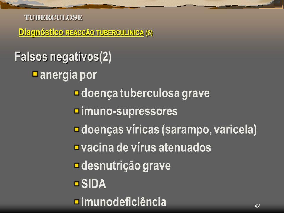 doença tuberculosa grave imuno-supressores
