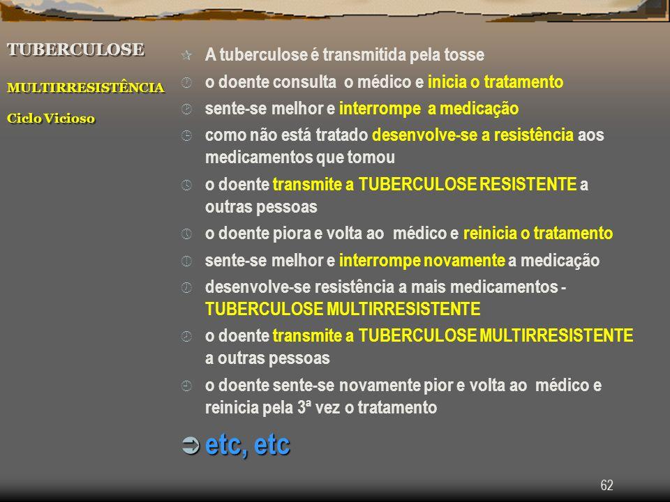 TUBERCULOSE MULTIRRESISTÊNCIA Ciclo Vicioso